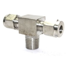 SS Tee Male Branch Connector Compression OD Fitting Stainless Steel 304